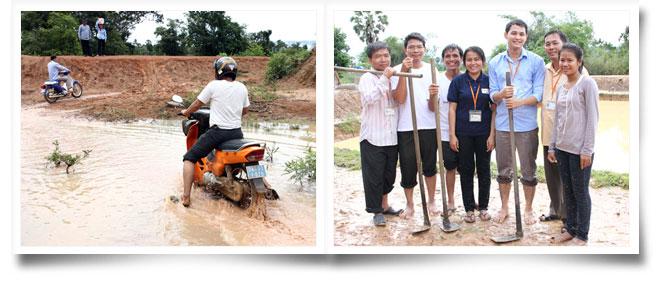 캄보디아 월드비전 직원들