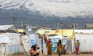 시리아 아즈락 캠프의 모습
