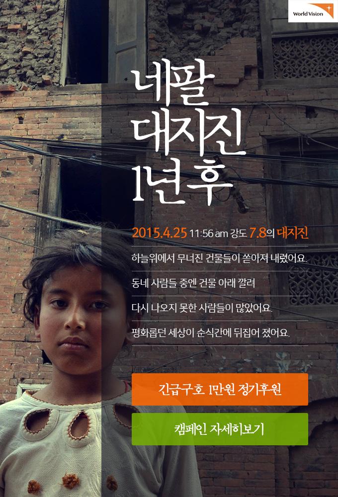 네팔 대지진 1년 후