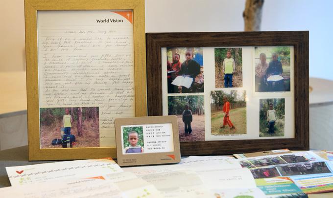 안성훈 후원자의 후원아동 사진과 편지들