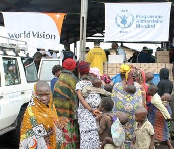 동콩고 인도적 지원 현장에서 진행한 월드비전-WFP 협력사업
