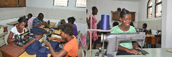 직업훈련을 통한 생계지원프로그램에 참여하고 있는 청년들