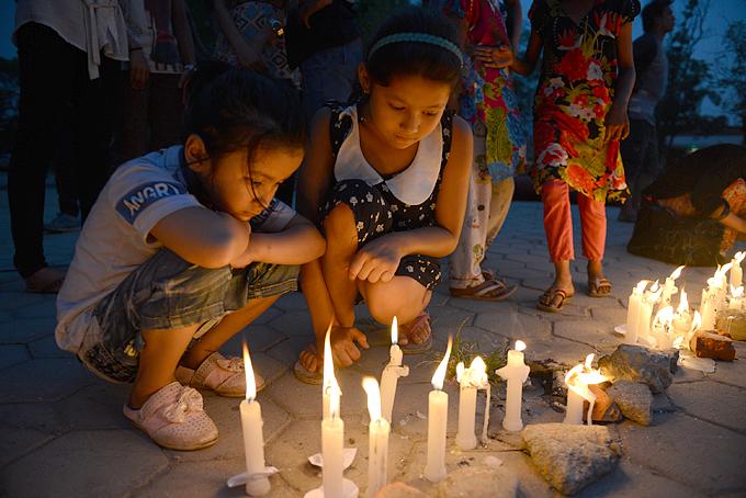 네팔 지진 발생 한달 째, 월드비전 주최로 희생자들을 위한 추모행사 Light for Nepal이 열렸다.