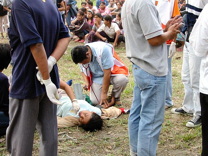 쓰나미로 인해 태국에서만 8천 여 명이 사망한 대참사. 6개 주에 걸쳐 300 개 마을이 피해를 입은 상황이었다.