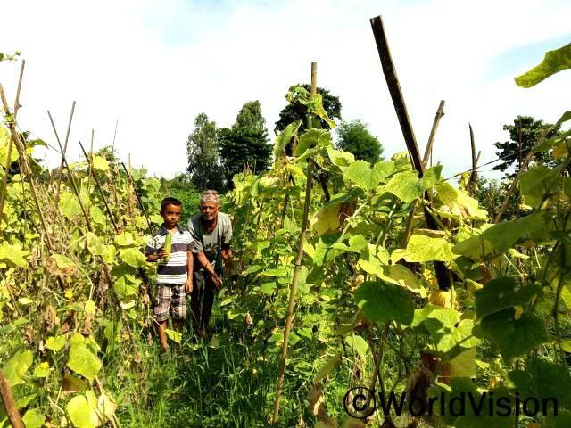 월드비전으로부터 종자를 지원 받고 농업훈련을 받은 바수데브씨 가족은 야채를 경작하였습니다. 집에서 경작한 유기농 야채를 먹는 것이 얼마나 중요한지 알게 되었습니다.년 사진