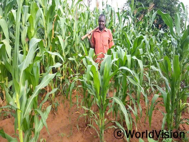 지역 농민 조합원들은 땅을 위한 기술과 향상된 기법을 배웠어요. 저는 많은 양의 옥수수를 재배하여 늘어난 수입으로 우리 가족을 부양할 수 있었어요. -빅터(농부)년 사진