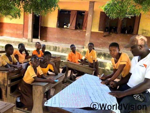 아이들이 마을 발전을 위해 직접 목소리를 내고 있어요.